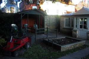 The smoking shed